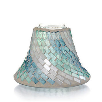 On the Boardwalk Seaglass Mosaic : Jar Candle Shade : Yankee Candle