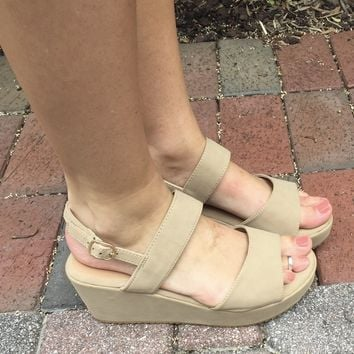 Talk About It Sandal- Taupe