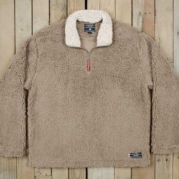Southern Marsh Appalachian Pile Quarter Zip Pullover in Light Brown SM-OAPP-LBR