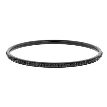 Katlynn Hematite Black CZ Bangle Bracelet