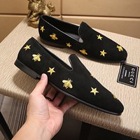 GUCCI Men Flats Sneakers Sport Shoes Boots Shoes Best Quality star black
