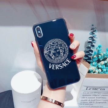 VERSACE Popular Women Men Personality Case For iPhone 6 6s 6plus 6s-plus 7 7plus iphone 8 iphone X XS Max XR