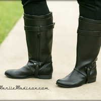 Cadence Wide Calf Boots in Brown or Black