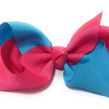 Girls 2 color Twist Chunky Hair Bows