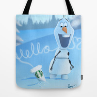 oh hello coffee im olaf Tote Bag by Dan Solo Galleries