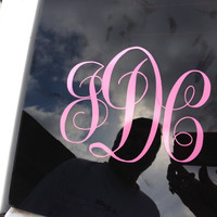 Custom Personalized Car Monogram Vinyl Decal by OwlOutfitters