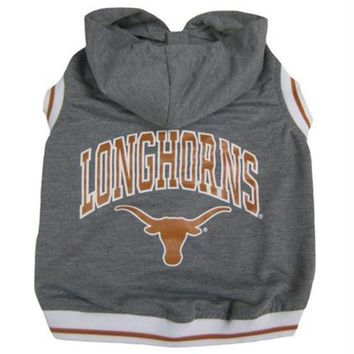 MDIGON Texas Longhorns Pet Hoodie Tee Shirt