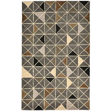 Trans Ocean Inca Triangle Gray Area Rug