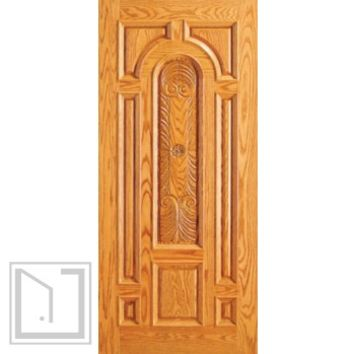 Single Entry Door, Carved Mahogany, 8 Panel raised Moulding