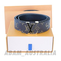 SUPREME LV LOUIS VUITTON Leather Belt Brown Monogram