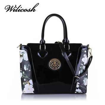 Wilicosh Brand News Fashion Patent Leather Bag Top-Handle Handbags Women Messenger Bags Satchels Female Tote Bolsa Mujer HC216
