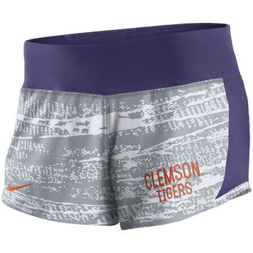 Women's Nike Gray Clemson Tigers Crew Performance Shorts
