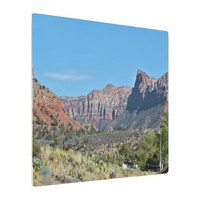 Mountains Zion National Park Metal Print