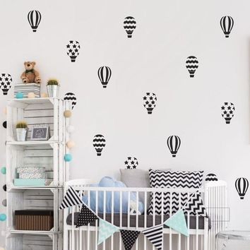 30pcs/set Hot Air Balloons Wall Stickers Nursery Baby Room Wall Vinyl Art Decor Home Decoration N817