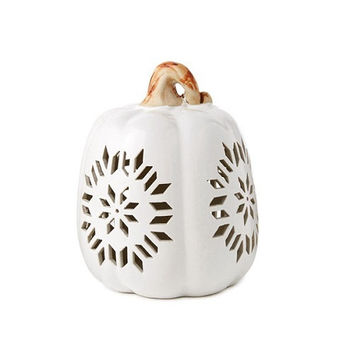 Hallmark Large Ceramic Pierced Pumpkin Luminary