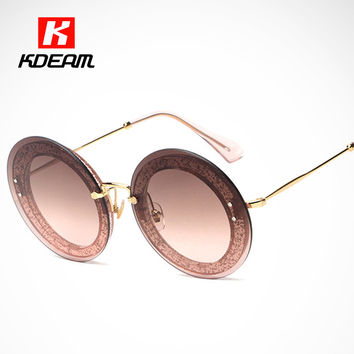 New Reveal Overlay Frame Round Sunglasses Women Modern Shiny Sun Glasses Rounded With Detailing Box lunette as Gift 10R