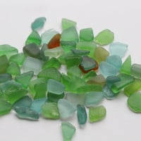 Super Tiny Sea Glass Mix Bulk Sea Glass 70 pcs