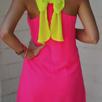 Dreaming Of You Dress: Neon Pink/Chartreuse | Hope's