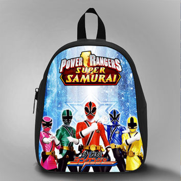 Power Ranger Super Samurai Formation, School Bag Kids, Large Size, Medium Size, Small Size, Red, White, Deep Sky Blue, Black, Light Salmon Color