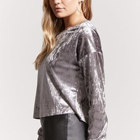Boxy Crushed Velvet Top
