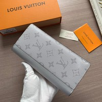 LV Louis Vuitton Fashion Popular Handbag for Men and Women Long Zipper Wallet Handbag Coffee blue black  lattice
