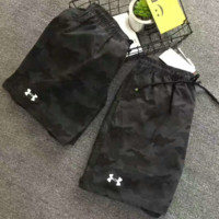 Under armour camouflage print shorts sports pants G-YF-MLBKS