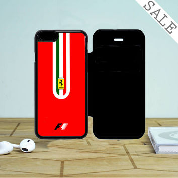 Fernando Alonso F1 Ferrari Scuderia Team iPhone 5 Flip Case