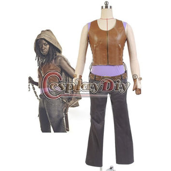 The Walking Dead Michonne Vest/Pants Outfit Cosplay Costume