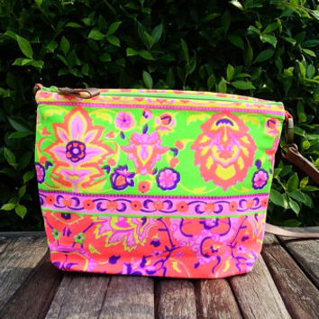 Paint bag, Colorful Neon Printed, Tribal bag, Multicolor, Tote bag, Canvas, Hobo, Hipie bag, Weekender bag, Beach bag, Boho Bag