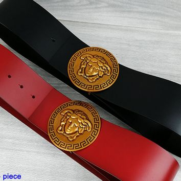 Versace fashion casual men's and women's belts hot selling large figure buckle belt