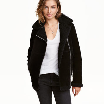H&M Pile-lined Suede Jacket $199