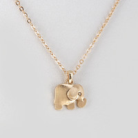 Dainty Gold Elephant Necklace