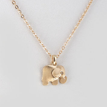 Dainty Gold Elephant Necklace from elle   k boutique  badc0614b119