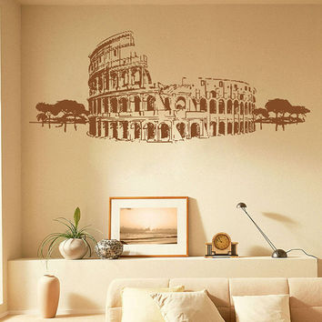 kik1041 Wall Decal Sticker colosseum rome italy gladiator living room bedroom
