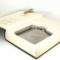 Vintage Hollow Book Safe and Flask-  Childhood and Society-