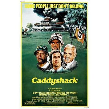 Caddyshack Movie poster Metal Sign Wall Art 8in x 12in