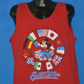 80s Mickey Mouse Epcot Center Tank Top Extra Large