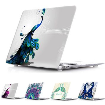Perfect Peacock Transparent Crystal For Apple Mac Macbook Retina 13 Case Cover Macbook Pro 13 15 Inch With Retina Display A1502