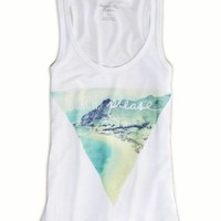 AEO Women's Beach Tank (White)
