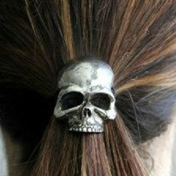 Punk skull hair band Women's fashion hair accessories hair ring # mgsu coltd Christmas Gift QD112001