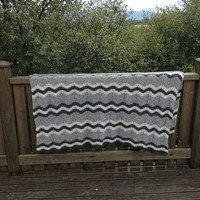 Ready to ship, blanket, afghan, throw, Icelandic wool, wool, lopi, bedding, cottage, summerhouse, crochet blanket, crochet bedding