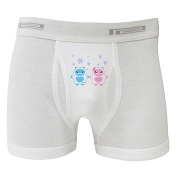 Cute Abominable Snowman Yeti Couple - Christmas Boxer Briefs