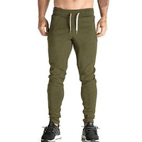 New Arrivals Men's Body Casual Style Workout Cloth Casual Active Cotton Pants Men Elastic Waist Pants Sweatpants Bottom Trouser