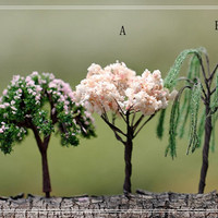 1pcs Tree Figure Fairy Garden Accessories, Miniature Figurines DIY Dollhouse Terrarium Suppliers