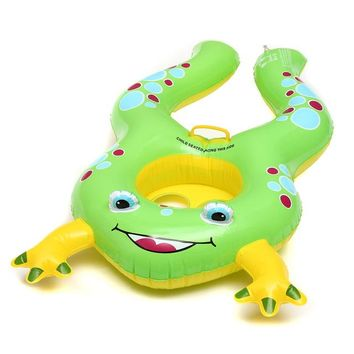 Swimming Pool beach Seat Circle Baby Swimming Ring Inflatable Floats Mother Children Bathtub Pool With Frog Shade  AccessoriesSwimming Pool beach KO_14_1