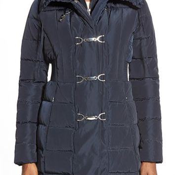 Women's Jessica Simpson Down & Feather Fill Toggle Front Coat,
