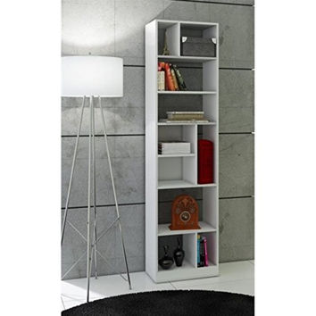Durable Valenca Bookcase 4.0 with 10- Shelves in White