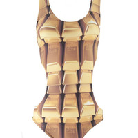 Mr. GUGU & Miss GO :: SWIMSUITS :: C-cut gold swimsuit