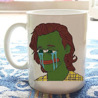 Pepe as Harry Styles Coffee Mugs