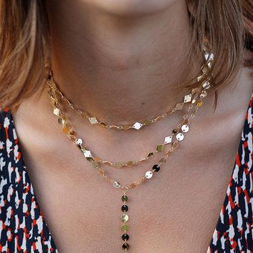 Multi-Layer Necklace - Gold